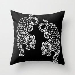 Big Cat Showdown Throw Pillow