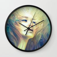 crown Wall Clocks featuring Crown by Anna Dittmann