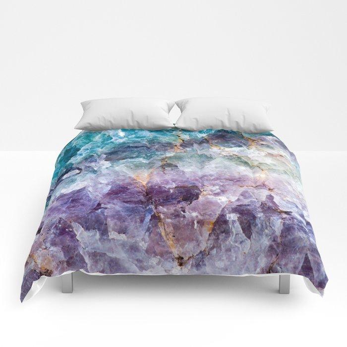 Turquoise & Purple Quartz Crystal Comforters