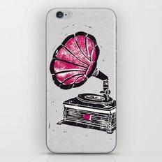 Linocut Gramophone iPhone & iPod Skin