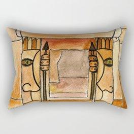 """""""The Mnajdra Guardians"""" Rectangular Pillow"""