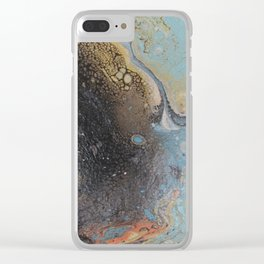 gold and black sand Clear iPhone Case