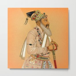 Indian Mughal with Sword Metal Print