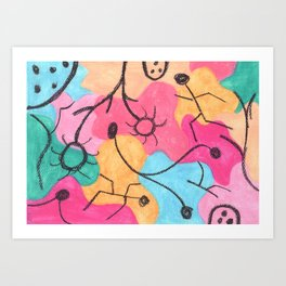 Tribute to Klee IV Art Print