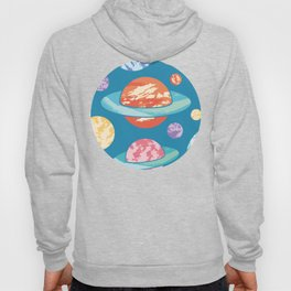 Textured Planets Pattern Hoody