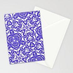 Blue antik lace Stationery Cards