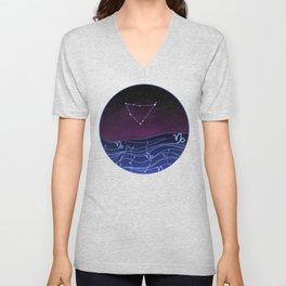Capricorn Zodiac Constellation Design Unisex V-Neck