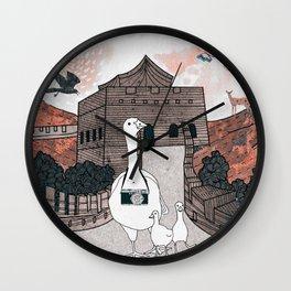 Peking duck2 Wall Clock