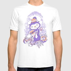 Tea Monkey Tea Party Mens Fitted Tee White MEDIUM