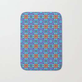 Southwestern Glass Tile Digital Art Bath Mat