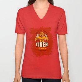 Angry tiger Unisex V-Neck