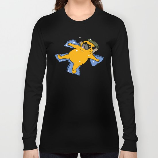 Snow Angel Pug Long Sleeve T-shirt