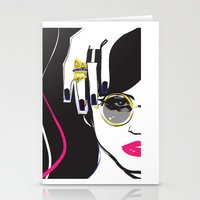 depeche mode Stationery Cards featuring Mode by shutupjade