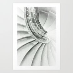 Sand stone spiral staircase 009 Art Print
