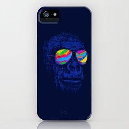 Blue Gorilla iPhone Case
