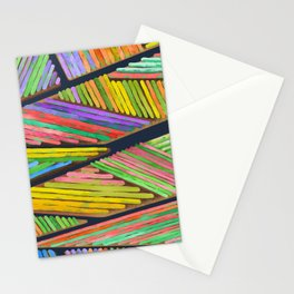 Abstract Landscape - Dutch tulip fields Stationery Cards