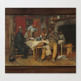 A Pastoral Visit, by Richard Norris Brooke, 1881 . An African American family Canvas Print