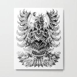 Heraldic Phoenix Metal Print