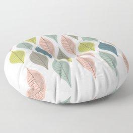 Mid Century Leaf Pattern Pastel Floor Pillow
