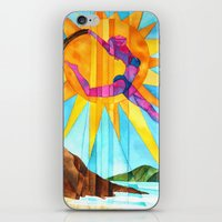 brand new iPhone & iPod Skins featuring Brand New Day by Heather Torres Art