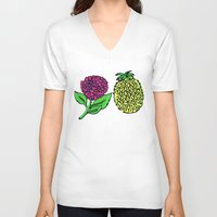 portugal V-neck T-shirts featuring Azores, Portugal by Golden Heart