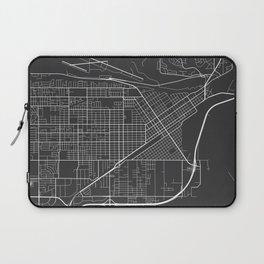 Billings Map, USA - Gray Laptop Sleeve