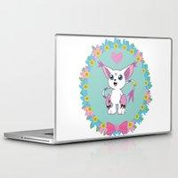 digimon Laptop & iPad Skins featuring Girly Gatomon by hannahroset