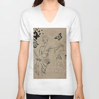 justice V-neck T-shirts featuring Justice by Maithili Jha