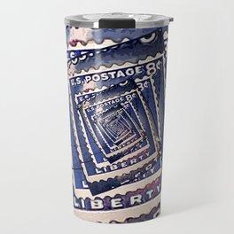 Spinning Stamps of Liberty Travel Mug