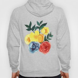 Watercolor Flower Bouquet Hoody