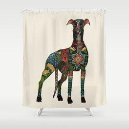 greyhound ivory Shower Curtain