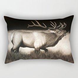 Bull Elk Rectangular Pillow