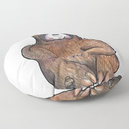 sloth painting nails Floor Pillow