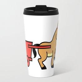 Mule and cart icon Travel Mug