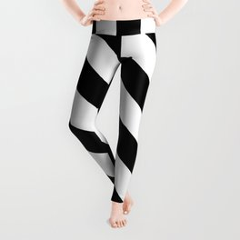 The Turning Point - Abstract Minimalism Art (3) Black & White Leggings