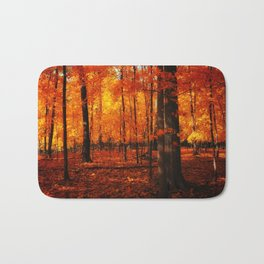 Fall Trees (orange) Bath Mat