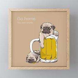 Go Home Framed Mini Art Print