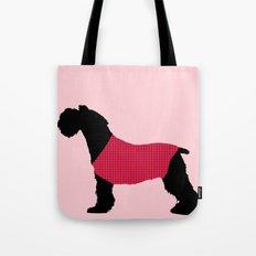 German Schnauzer Dog Print on Pink Tote Bag