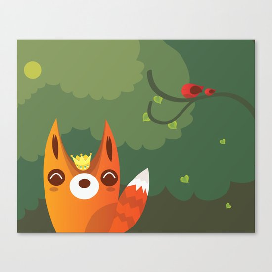 Kingfox Canvas Print