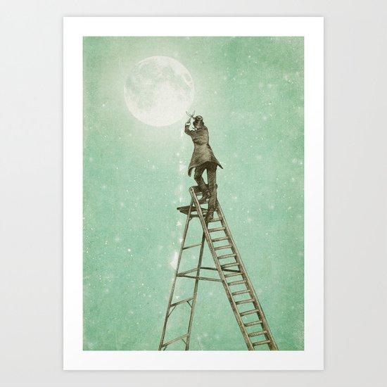 Waning Moon Art Print