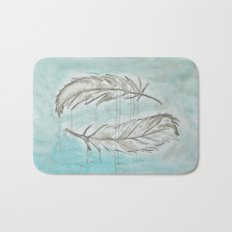 Feathers and memories Bath Mat