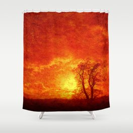 Lone tree on an English winters day  Shower Curtain