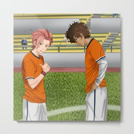 Connor and Mitchell soccer match Metal Print