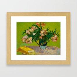 Oleanders Vincent van Gogh Oil On Canvas Floral Still Life Painting Framed Art Print