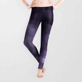 Purple abstract painting. Leggings