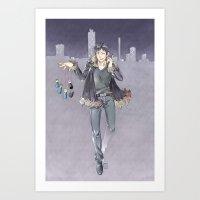 durarara Art Prints featuring kanra-san by Prince