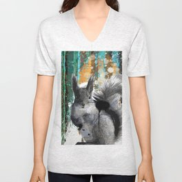Cheeky Industrious Squirrel  Unisex V-Neck