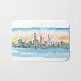 Baton Rouge Louisiana Skyline at Sunset Bath Mat