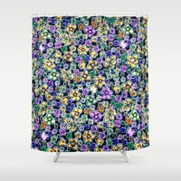 flora Shower Curtains featuring Flora by BellagioVista