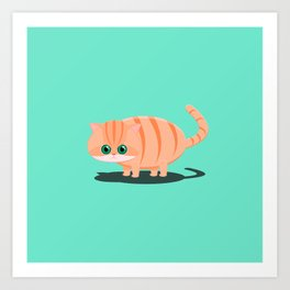 Fatty Cat Art Print